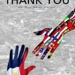 フィリピンの台風被害への各国の募金支援感謝のポスターが出来上がりました!「ナゼ韓国が入っていない!!」韓国人激怒・・・【地図画像】